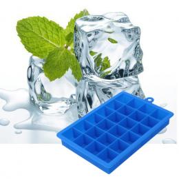 Duży 24 Siatki Tacy Silikonowy Lodu DIY Ice Cream Maker Kwadratowych kształt Formy do Lodu Owoce Ice Mold Kuchnia Bar Picie Akce