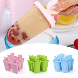 Lody Na Patyku Formularz DIY Śliczne 6 Niedźwiedź Formy Popsicle Formy Formy Ekspres Jogurt Ice Box Lodówka Mrożone Ice Cream Na