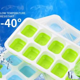 Kostki lodu Tace Pokryte Taca Na Kostki Lodu Zestaw Z 14 Kostki Lodu Formy Elastyczne Gumowe Plastikowe Wieżowych