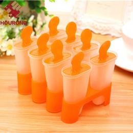 8 Komórki Popsicle Formy Z Tworzyw Sztucznych na Lody Narzędzia Kuchenne Kuchenne DIY