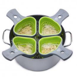 Sita Durszlak składany Silikonowy Kuchenne Durszlak Sitko Spaghetti Netto Kosz Kuchenka Kuchnia Narzędzia KC1695 Podkład