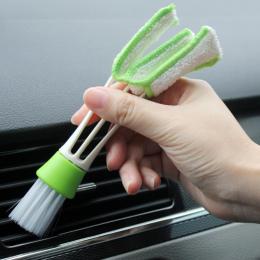 1 pc Samochód Szczotka Do Czyszczenia Dwukrotnie Zakończył Car Air Vent Szczelina Brush Cleaner Odkurzanie Rolety Klawiatura Szc
