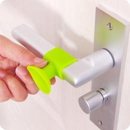 Praktyczne 2 sztuk Drzwi Uchwyt Silikonowy Anticollision Sucker Domu Drzwi Ochrona Pad Wyciszenia Tłumik Ssania Drzwi Zatrzymuje