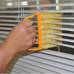 Przydatne Mikrofibry szczotka do czyszczenia Okien żaluzje Duster czyszczenia z zmywalny klimatyzator ostrze czyszczenia tkaniny