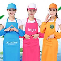 Moda Unisex Fartuchy Kieszeń Kucharz Domu Kuchnia Restauracja Paznokci Kawiarnia Naczyń Rzemiosła Pieczenia Gotowania Druku Logo