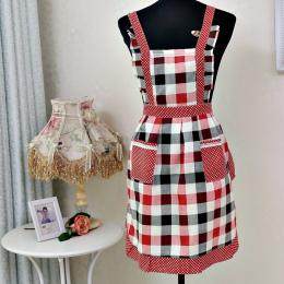 Kobiety Lady Fartuch Kuchenny Sukienka Restauracja Główna Kuchnia Do Kieszeni Gotowanie Śmieszne Bawełna Fartuch Bib Jadalnia Gr