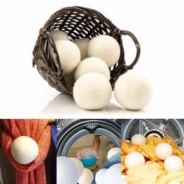6 sztuk/paczka Prania Czyste Piłka Wielokrotnego Użytku Natural Organic Prania Tkaniny Zmiękczania Ball Premium Organic Wełny Su