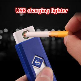 Oszczędny mały Akumulator USB Wiatroszczelna bezpłomieniową Elektroniczny elektryczny ładowania zapalniczki Bezdymne Super zapal