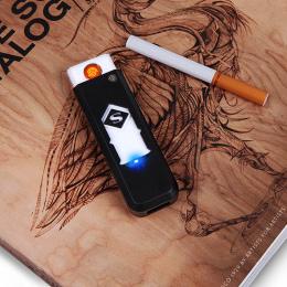1 pc Wiatroszczelna Miły Prezent Bezdymnego Bezpłomieniowego USB Ładowania Zapalniczki Elektroniczne Zapalniczki Akcesoria Do Pa