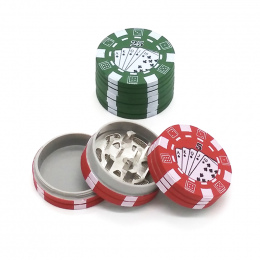 3 warstwy Poker Chip Styl Zioła Ziołowe Szlifierka Tytoniu Chwastów Szlifierki Palenia Akcesoria gadżet Czerwony/Zielony/Czarny