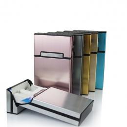 Nowy Ultra Cienkie Rury Mody Osobowość Twórcza Cigaret Case Slim Pudełko Metalowe Pudełko Papierosów Aluminium Mini Posiadaczem
