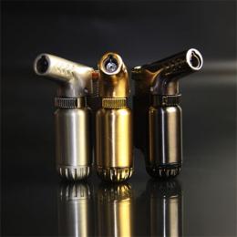 Hot Kompaktowy Butan Jet Zapalniczka Turbo Latarka Lżejsze Ogień Wiatroszczelna Spray Gun Metal Lżejszy 1300 C BRAK GAZU Akcesor