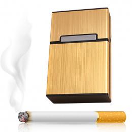 2018 Osobowości Twórczej Aluminium Palenia Papierosów Case Moda Mężczyźni Cigar Tobacco Posiadacz Kieszeń Box Pojemnik Pudełko