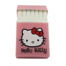 Posiada 20 Papierosy, Hello Kitty lovery Silikon pokrywa elastyczna guma przenośny kobiet paczka papierosów papierośnica mody rę
