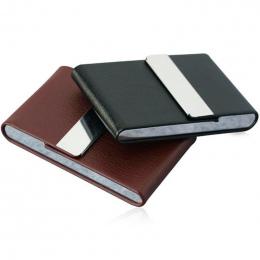 Aluminium Przypadku Papierosów Cigar Tobacco Holder Kieszonkowy Box Pojemnik Ze Stali Nierdzewnej PU Przypadku Kart Palenia Akce