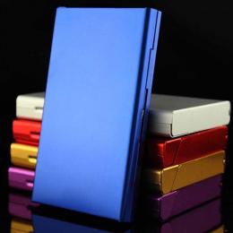 Stop aluminium Cienki Papieros Przypadku Pole Posiadacz Kieszeń na Papierosy Pojemnik Magazynowy Akcesoria Do Palenia Tytoniu 6