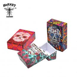 Fantazyjny 1 pc Plastikowe Papierośnica Rozmiar 95mm * 60mm Tytoń Papierosowy Butterfly & Skull Storage Case
