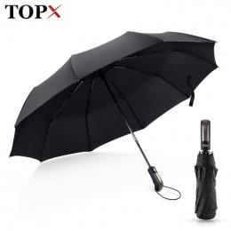 Odporne Na wiatr Składany Parasol Automatyczny Deszcz Kobiet Auto Luksusowe Big Wiatroszczelne Parasole Deszcz Dla Mężczyzn Czar