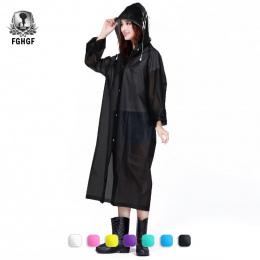 FGHGF Moda EVA Kobiet Płaszcz Zagęszczony Wodoodporna Deszcz Płaszcz Kobiety Przezroczysty Kemping Wodoodporne Przeciwdeszczowa