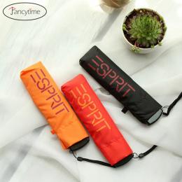 4 Kolory Mały Składany Kieszonkowy Ołówek Parasol ultra-cienki Lekki Mini Parasol Parasol dla Mężczyzn Słońce Deszcz Deszcz Kobi