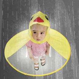 Dzieci Płaszcz Przeciwdeszczowy Przezroczyste UFO Płaszcze Przeciwdeszczowe Wolne ręce Deszcz Poncho Dla Dzieci Śmieszne Kaczka