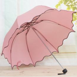 Dla Kobiet Deszcz Parasol 4 Składane Kobiet Parasole Uchwyt Wygodne Zdecydowanie Marka Księżniczka Craft 92 cm Na Zewnątrz Podró