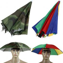 2 Kolor Parasol Kapelusz Parapluie Sun Parasol Sun Shade Camping Piesze Wycieczki Wędkowanie Parasol Brolly Festiwalach Na Zewną
