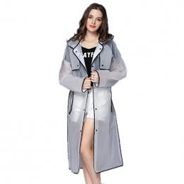 EVA Przezroczyste Płaszcz Z Kapturem Kobiet Deszcz Płaszcz Długa Kurtka Wodoodporna Deszcz Poncho Zewnątrz Przeciwdeszczowa 4 Ko