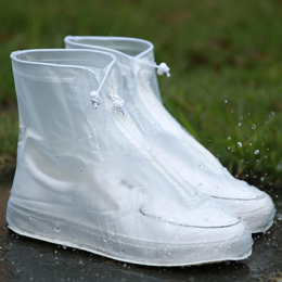 1 pair Wodoodporna Protector Buty Boot Pokrywa Unisex Zipper Pokrowce Deszczu High-Top Anti-Slip Deszczu Buty przypadki