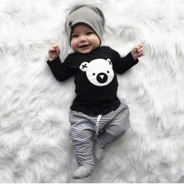 MUQGEW Dzieci odzież zestaw Cartoon Koala T-Shirt Topy + Spodnie W Paski Baby Boy Ubrania noworodka baby boy ubrania roupa infan