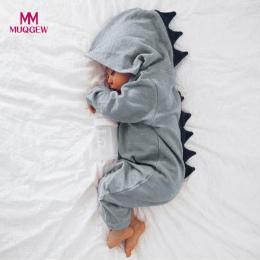 MUQGEW Noworodka Baby Boy Dziewczyna Dinozaurów Z Kapturem Romper Kombinezon Outfits Ubrania Kawaii Stałe Odzież kombinezon Dla