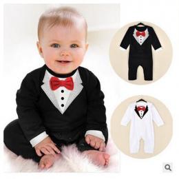 Baby Boy Romper Niemowlę Toddle baby Garnitur Mały Gentleman Odzież z muszka Dziecko Kombinezon Dla Dzieci bebe Odzież Kombinezo