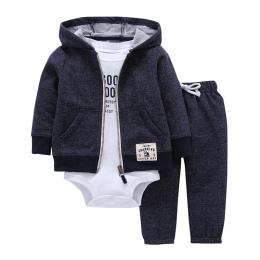 2018 bebes baby boy dziewczyny ubrania zestaw bodys bébés bawełna sweter z kapturem + spodnie + ciała 3 częściowy zestaw noworod