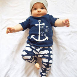 2017 lato baby boy ubrania na co dzień 2 sztuk t-shirt + spodnie strój mody rozrywka dla dzieci chłopcy odzież zestawy DS40