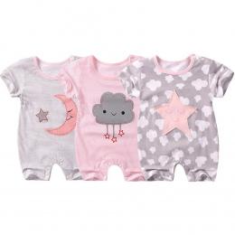 Lato w Nowym stylu body niemowlęce Krótki rękaw Noworodka Baby Boy Dziewczyna ubrania Cute Cartoon Drukowane Kombinezon Wspinacz