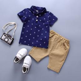 BibiCola Chłopcy Odzież Ustawia Letnie Dziecko Chłopców Ubrania Garnitur Gentleman Style Polo Koszula + Spodnie 2 sztuk Ubrania