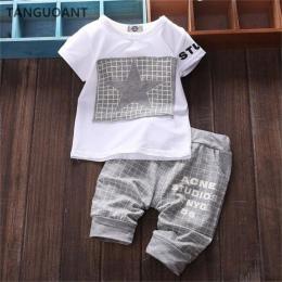 TANGUOANT gorąca sprzedaż Baby boy ubrania Marki letnie ubrania dla dzieci ustawia koszulka + spodnie garnitur Gwiazda Drukowane