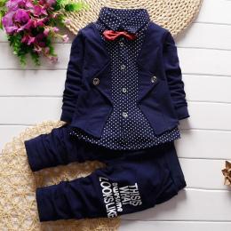 BibiCola Niemowląt Uroczyste uniform garnitur 2017 Boys Baby Odzież Zestawy Ślubne kurtka + spodnie ubrania malucha Noworodka dz