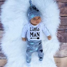 2018 Jesień new baby boy ubrania ustawić bawełny długi rękaw Romper + spodnie + kapelusz 3 sztuk. Newborn baby boy ubrania zesta