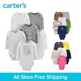 6 sztuk słodkie druku bawełniane Długie rękawy Body zestawy cartera baby girl boy odzież jesienno-zimowa 126H686/126H685 /126H68