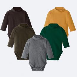 Hooyi Baby Boy Ubrania 100% Bawełna Czysta Stałe Golfem Newborn Body Odzież z krótkim rękawem Topy 0 1 2 3 Lat PJS przedwczesny