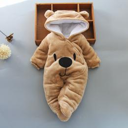 Baby Pajacyki Zima Baby Boy dziewczyny Ubrania Bawełna Noworodka Ubrania malucha Niemowląt Kombinezony noworodków ciepłe odzież
