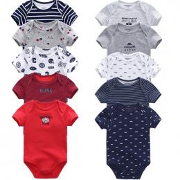 5 sztuk/partia Baby Pajacyki 2018 Krótkim Rękawem 100% Bawełniane kombinezony Noworodka ubrania Roupas de bebe chłopcy dziewczyn