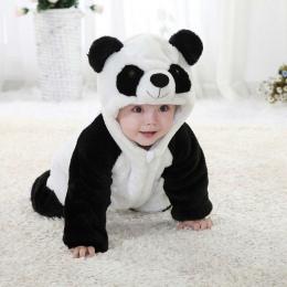 2018 Najnowsze dzieci Nosić Noworodka Maluch Dziecko Zwierząt Romper Stroje Cute Panda Kombinezon Playsuit Kostium Miękka Bawełn