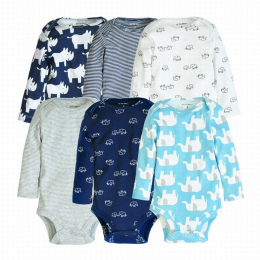 Chłopca Z Długim Rękawem Body Dla Dziecka Zestawy 4-6 sztuk Śliczne Niedźwiedź Druku Ubrania Dla Dzieci Jesień Paskiem Odzież Bo