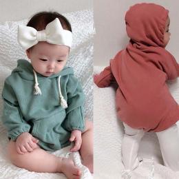 Dziewczynek ropmers Zima Płaszcz Zimowe Ubrania Proste Dorywczo Bawełna Aksamitna odzież Wspinaczkowa I Kapturem Baby Girl Odzie
