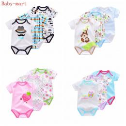 3 Części/partia Marki Lato Boys Baby pajacyki Kombinezon Romper styl Zwierząt Krótkim Rękawem bawełna niemowląt bawełna Noworodk