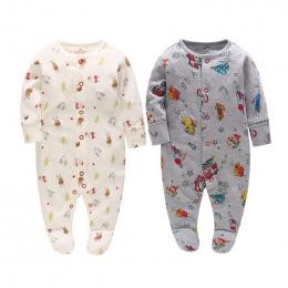 Noworodka Christmas baby ubrania rękawiczki rękaw piżama baby girl boy ropa onesie bimba footies recien nacido odzież menina zno