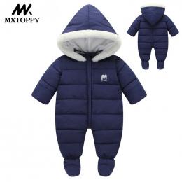 Ubrania dla dzieci 2018 Nowy Zimowy Z Kapturem Body Niemowlęce Gruba Bawełna Outfit Newborn Kombinezon Dla Dzieci Dziecko Kostiu