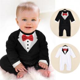 Maluch Baby Boy Pajacyki Wiosna Zestawy Odzieżowe Dla Niemowląt Gentleman Roupas Niemowląt Kombinezony Baby Boy Ubrania Noworodk